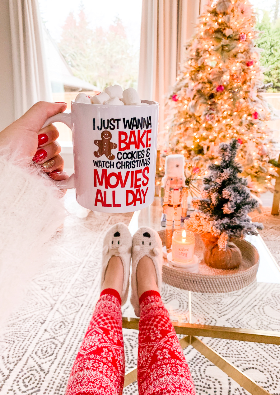 Amazon Handmade Home Decor Gift Ideas Holiday Gift Guide Christmas Mug Christmas Pj Pants Christmas Decor Seattle Fashion Blog Just A Tina Bit