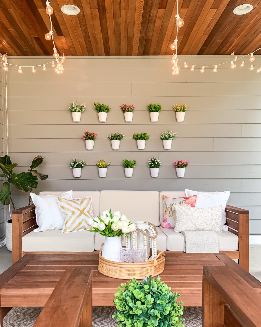 Diy Plant Wall Patio Decor Just A Tina Bit
